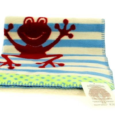 plaid enfant coton bio grenouille