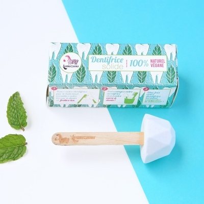 LAMAZUNA dentifrice zéro déchet solide à la menthe poivrée