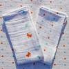mouchoirs coton bio lavables papillons et pois