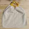 serviette élastiquée coton bio ombrelles verso