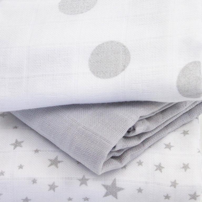 langes gris étoiles
