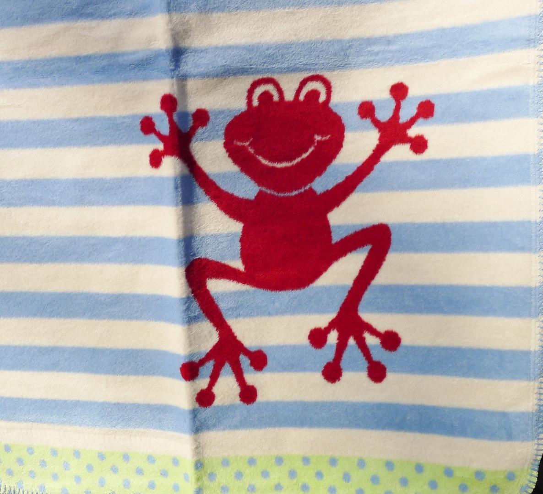 plaid enfant coton bio grenouille (3)