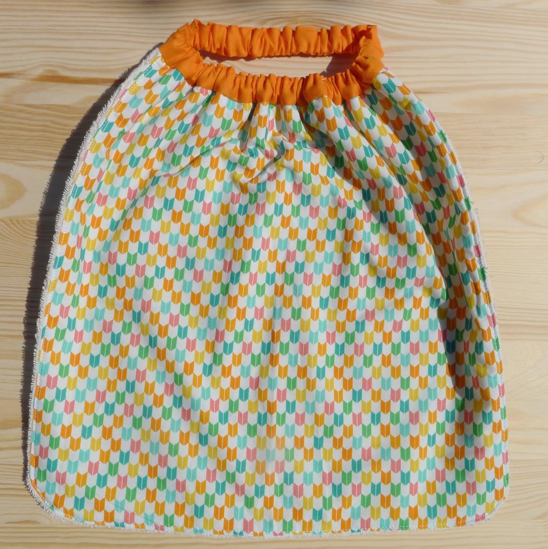 serviette élastiquée coton bio arlequin