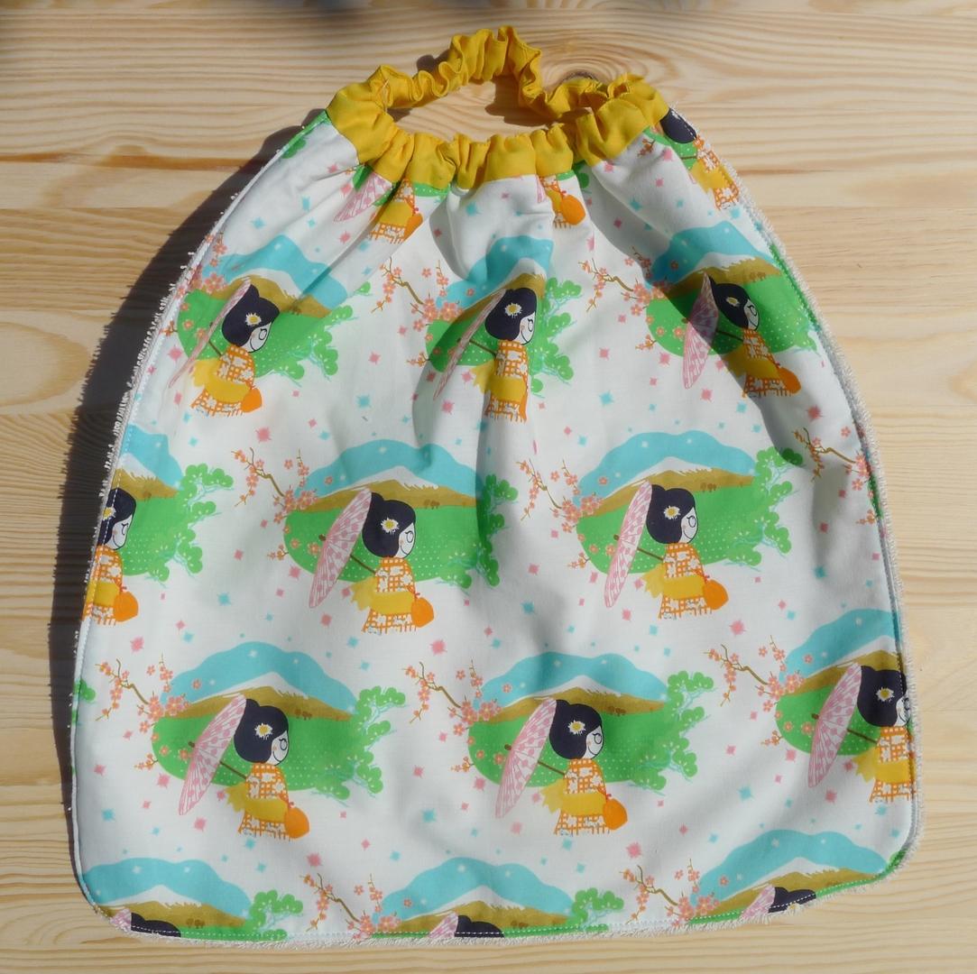 serviette élastiquée coton bio ombrelles