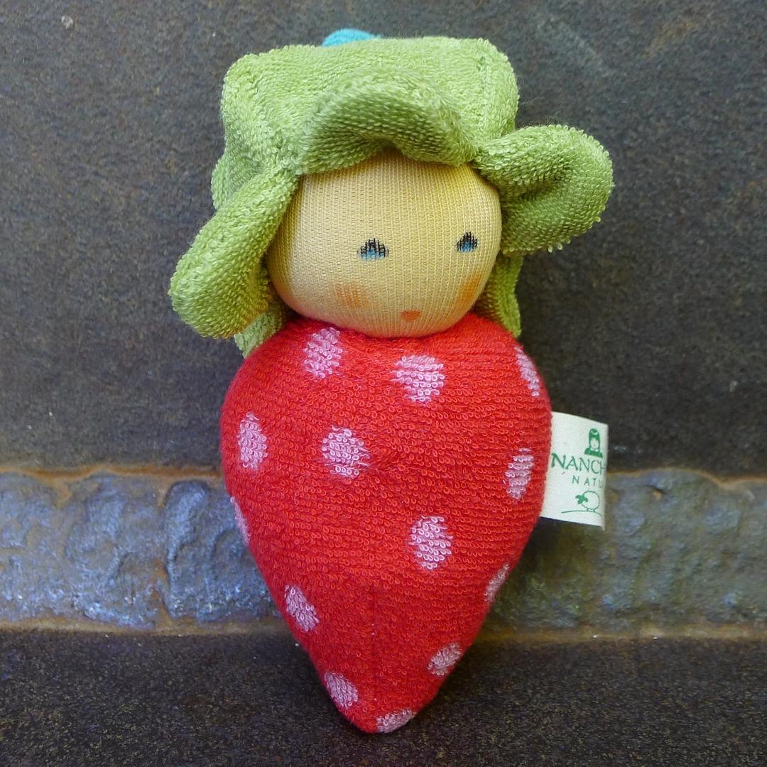 NANCHEN NATUR doudou fraise coton bio 1