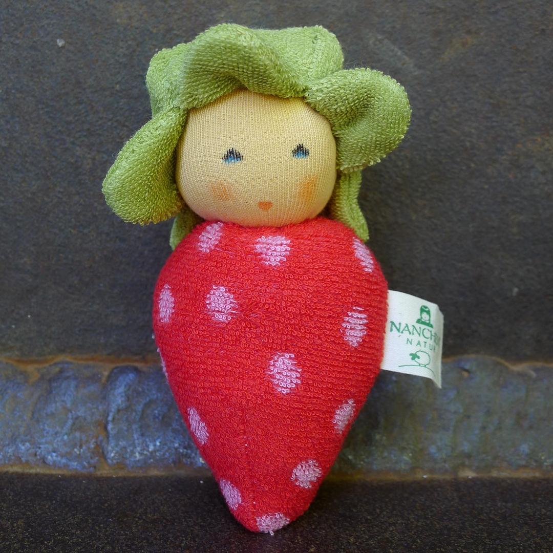 NANCHEN NATUR doudou fraise coton bio 2