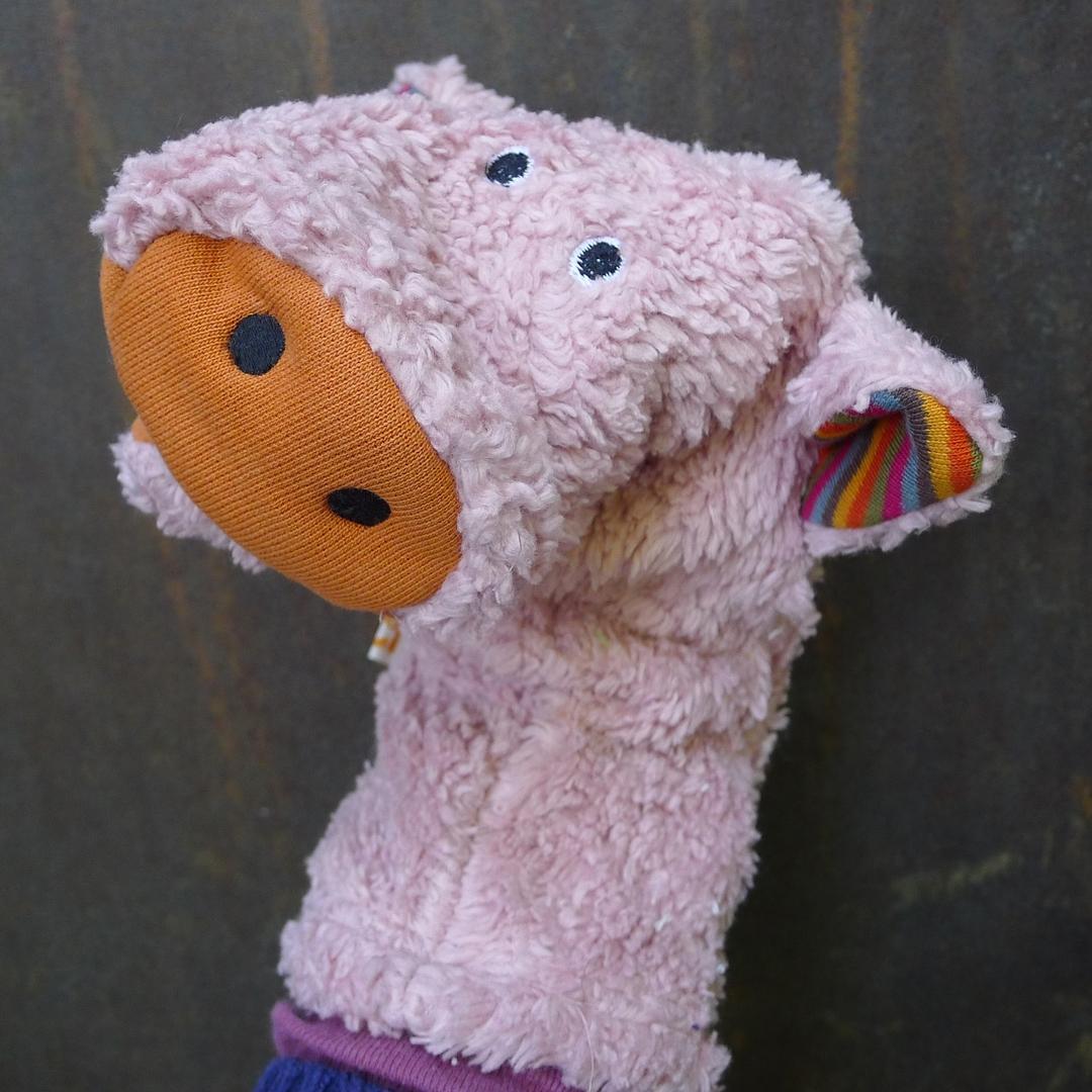 LANA NATURAL WEAR marionnette coton bio cochon (3)