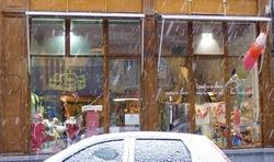 boutique Lyon sous la neige