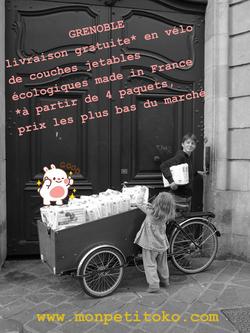 Grenoble Livraison Gratuite De Vos Couches Jetables En Vélo Mon