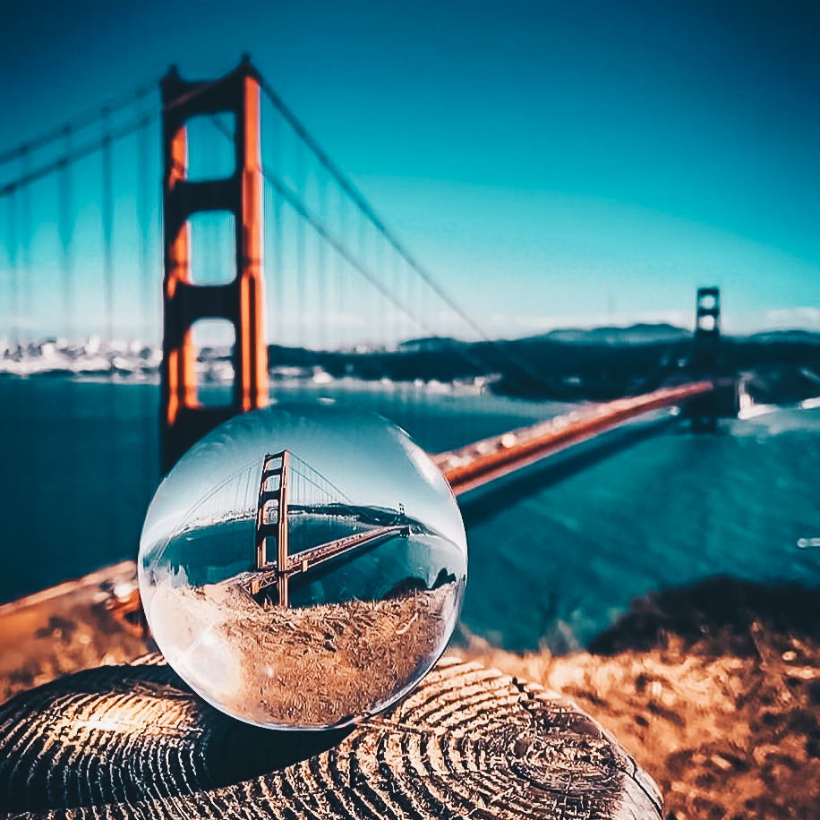 Lensball : Boule Photographie en verre pour photos