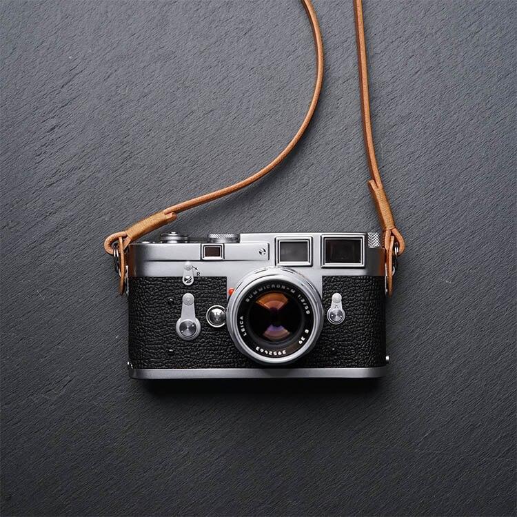 Sangle Appareil Photo Reflex - Cuir Premium