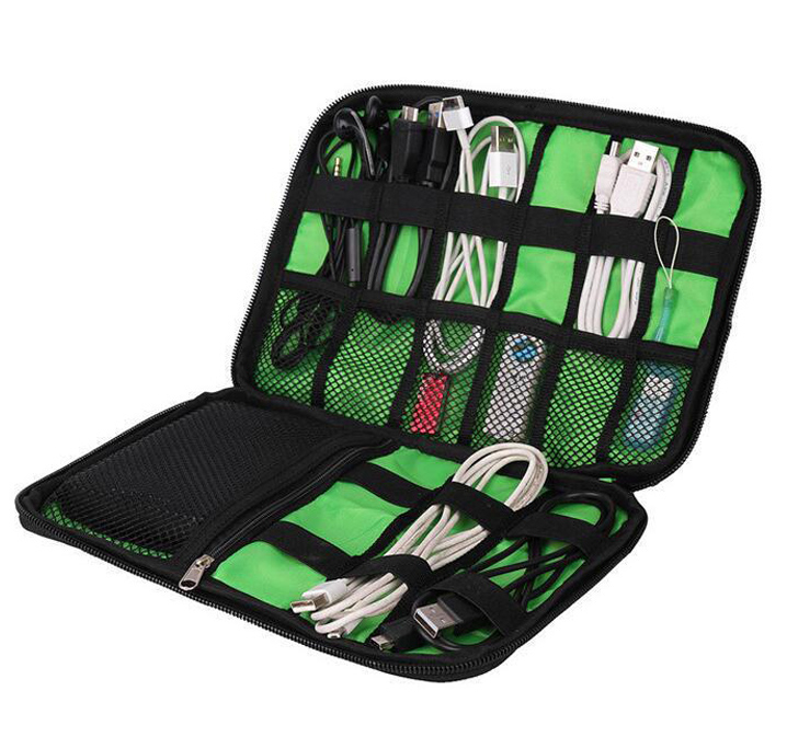 QEHIIE-High-Grade-Nylon-Waterproof-Travel-Electronics-Accessories-Organiser-Bag-Case-for-Chargers-Cables-etc-Accessories