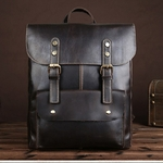 Crazy-Horse-Cowhide-Men-Backpack-Genuine-Leather-Vintage-Daypack-Travel-Casual-School-Book-Bags-Brand-Male