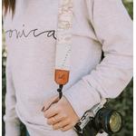 Sangle appareil photo coton cuir-6