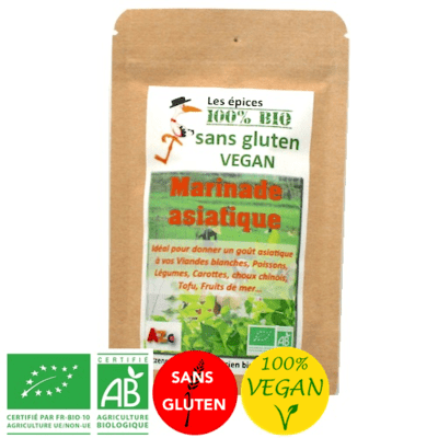Epices Marinade asiatique - Vegan - Bio sans gluten