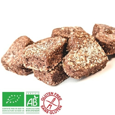 Petits coeurs Amande Chocolat - Bio sans gluten - sans lactose