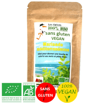 Epices Marinade méditerranéenne - Vegan - Bio sans gluten