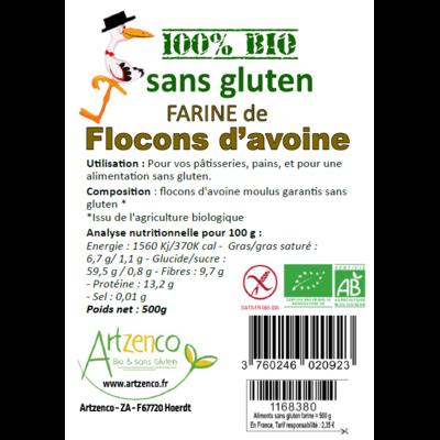 FARINE DE FLOCONS D'AVOINE SANS GLUTEN