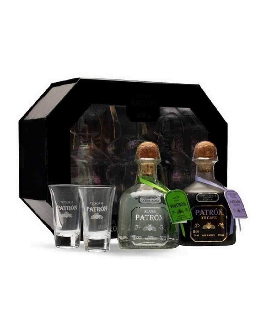 Tequila Patron Silver + XO Café Coffret 2 x 35 cl