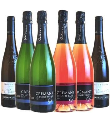 BOX de FÊTES Crémant de Loire AOP Blanc et rosé -Coteaux du Layon Liquoreux