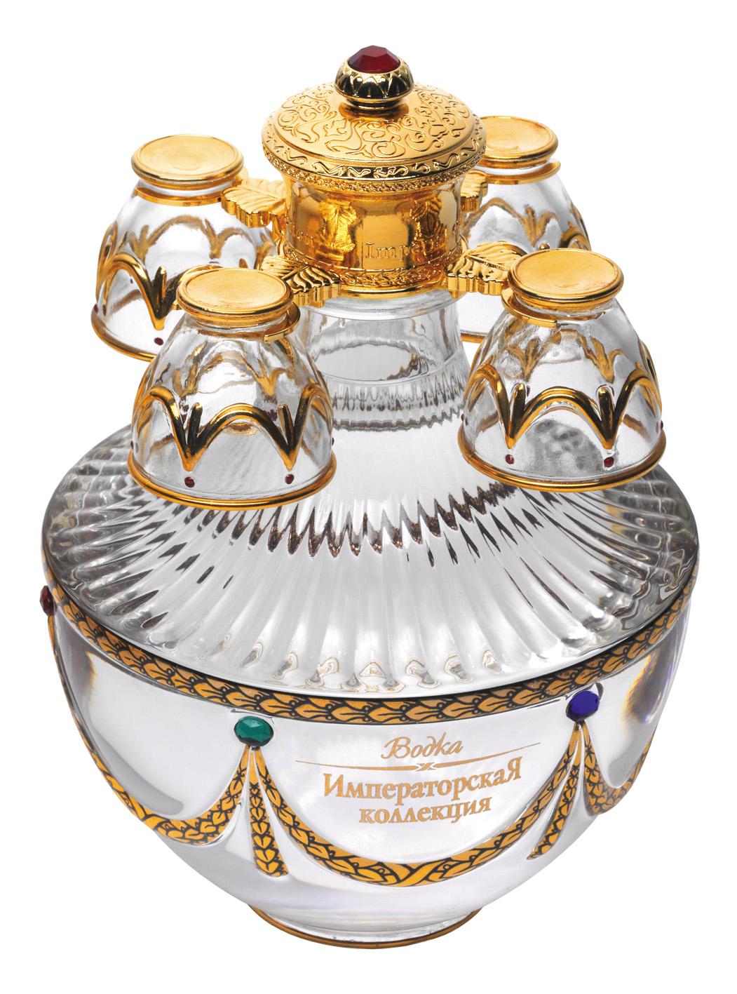 Vodka Impérial Collection Super Premium Oeuf Fabergé blanc et rouge