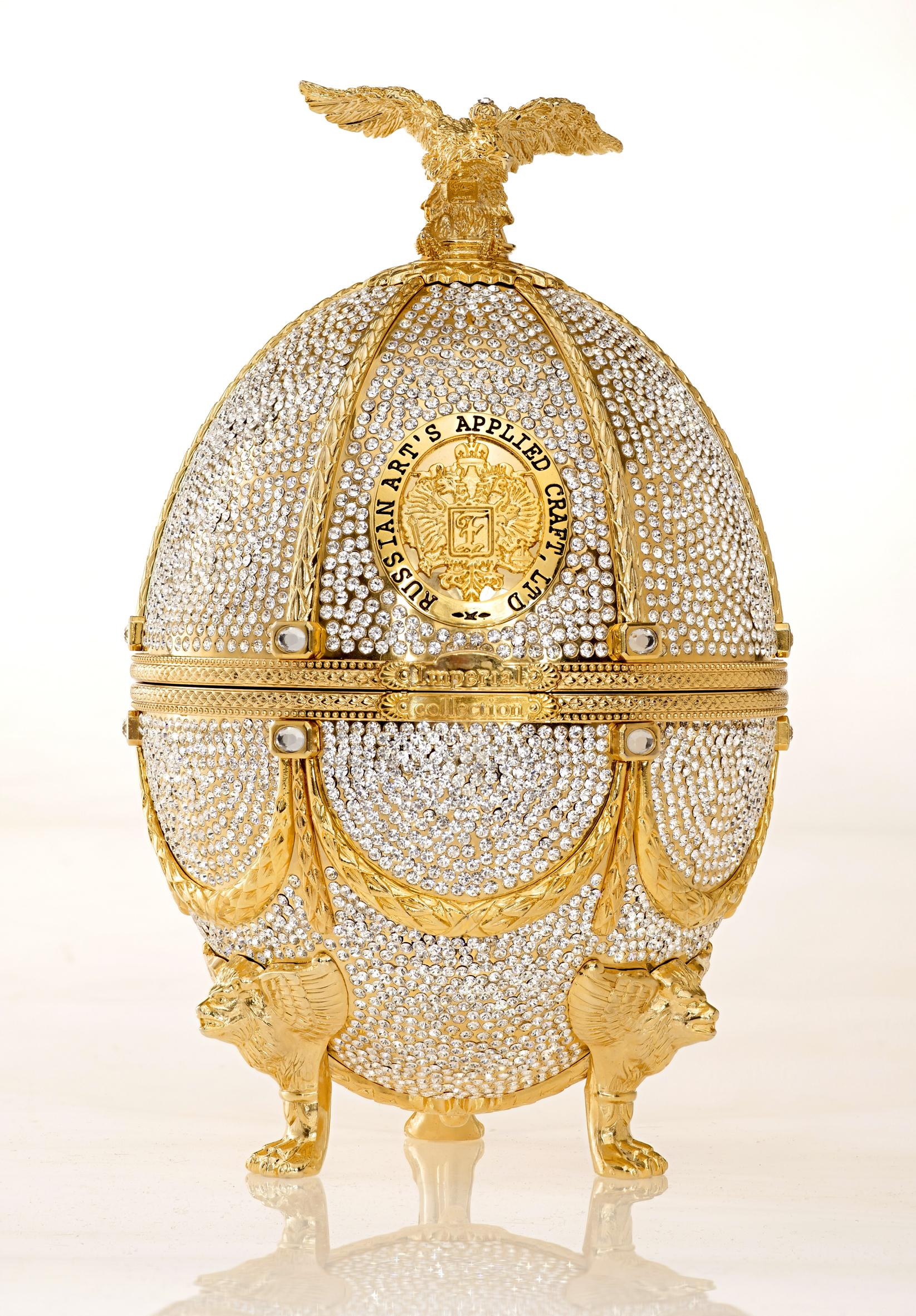 Vodka Imperial Collection Super Premium Oeuf Fabergé Diamond avec cristaux Swarovski