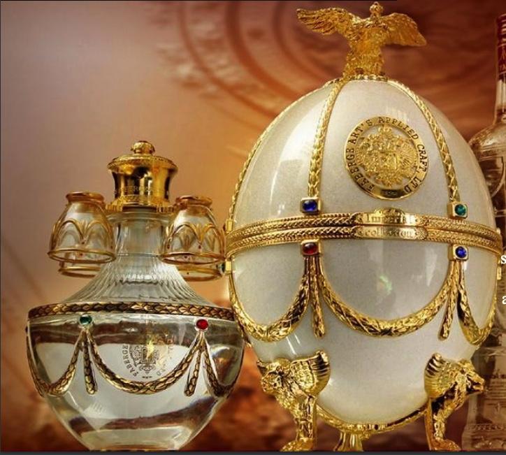 Vodka Imperial Collection Super Premium Oeuf Fabergé Blanc