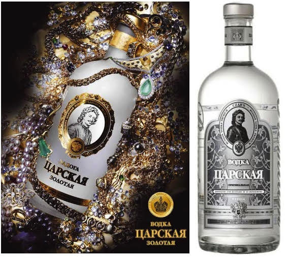 Lot de 2 Vodka Russe Tsarskaya Gold et Original