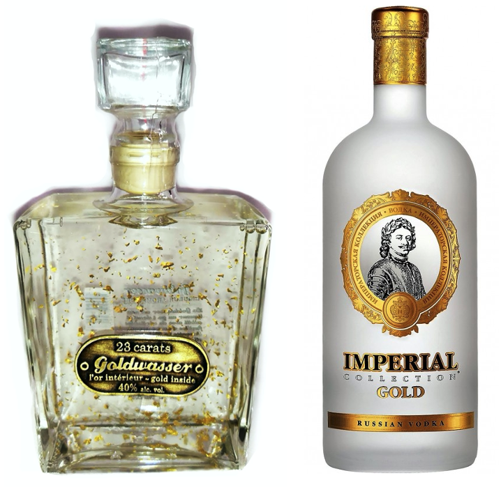 Lot Vodka Goldwasser et Imperial Collection Gold