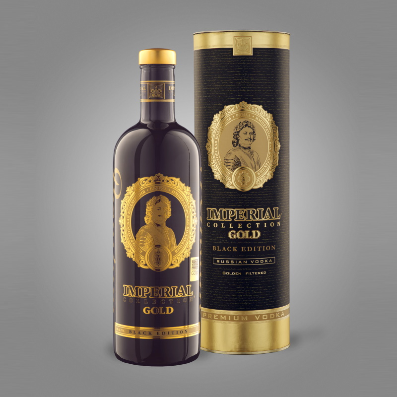 Vodka Imperial Collection Gold BLACK Edition en coffret cadeau