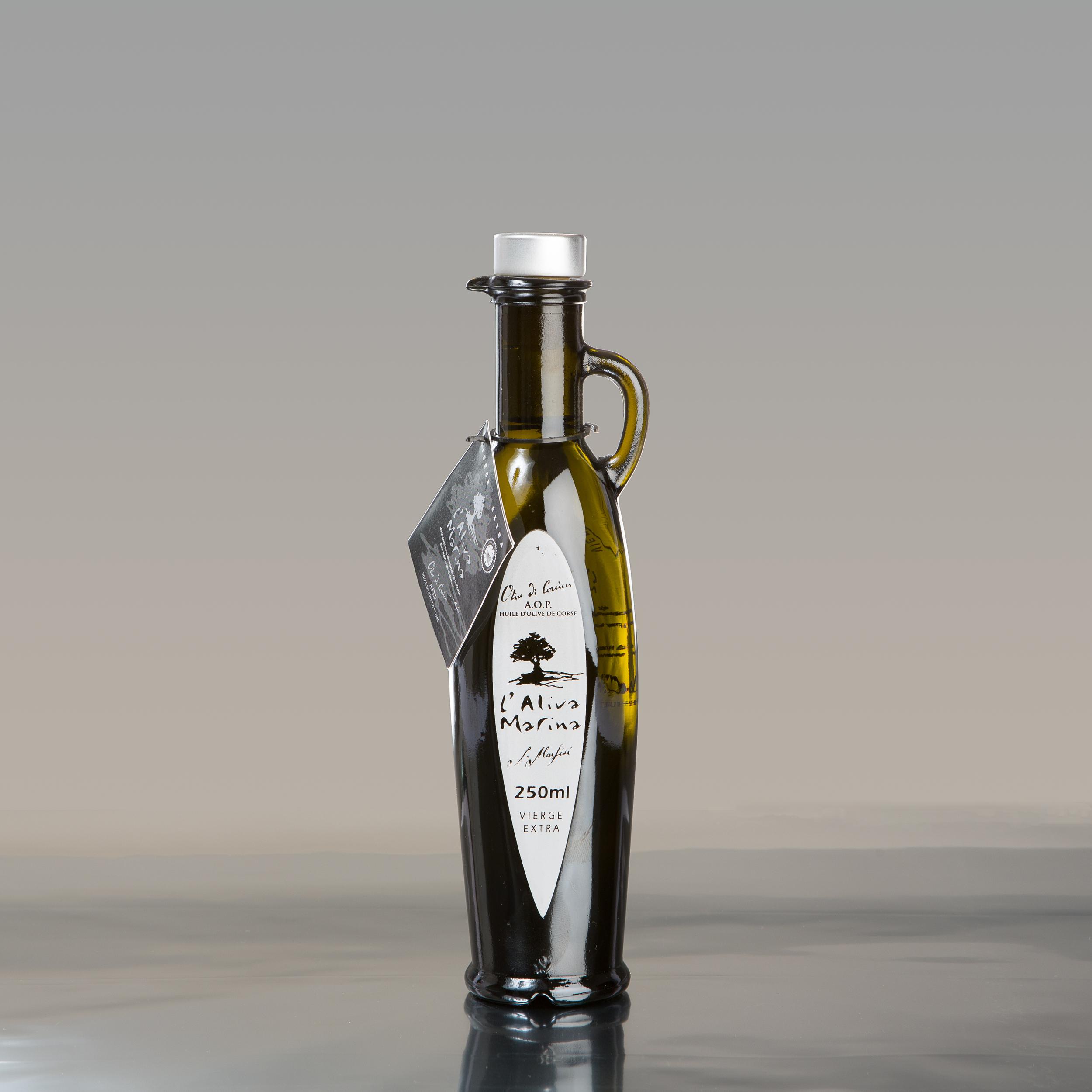 Huile d\' olive de Corse vierge extra AOP Bouteille Amphore 250 ml