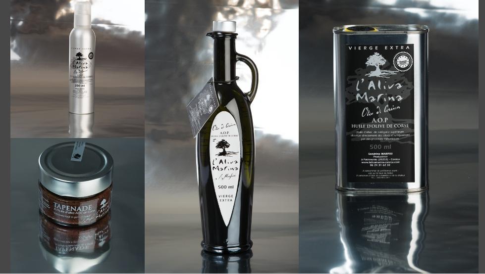 Lot Huile d\' olive Corse et Tapenade Corse