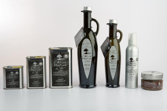 Huile d\' olive de Corse vierge extra AOP gamme complète + tapenade (7 produits)