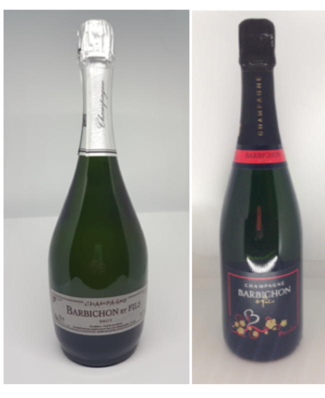 LOT Champagnes Barbichon & Fils et Vodka Tsarskaya Gold