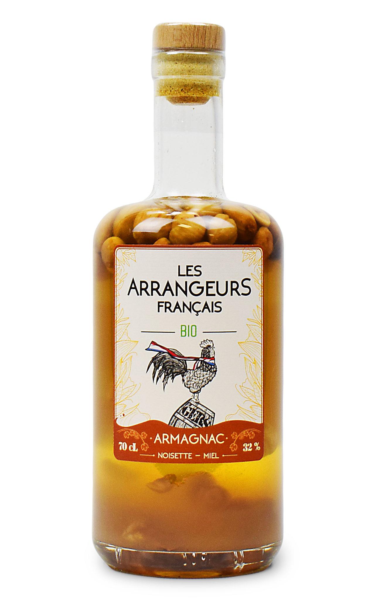 Armagnac AOC arrangé Bio Noisette Miel