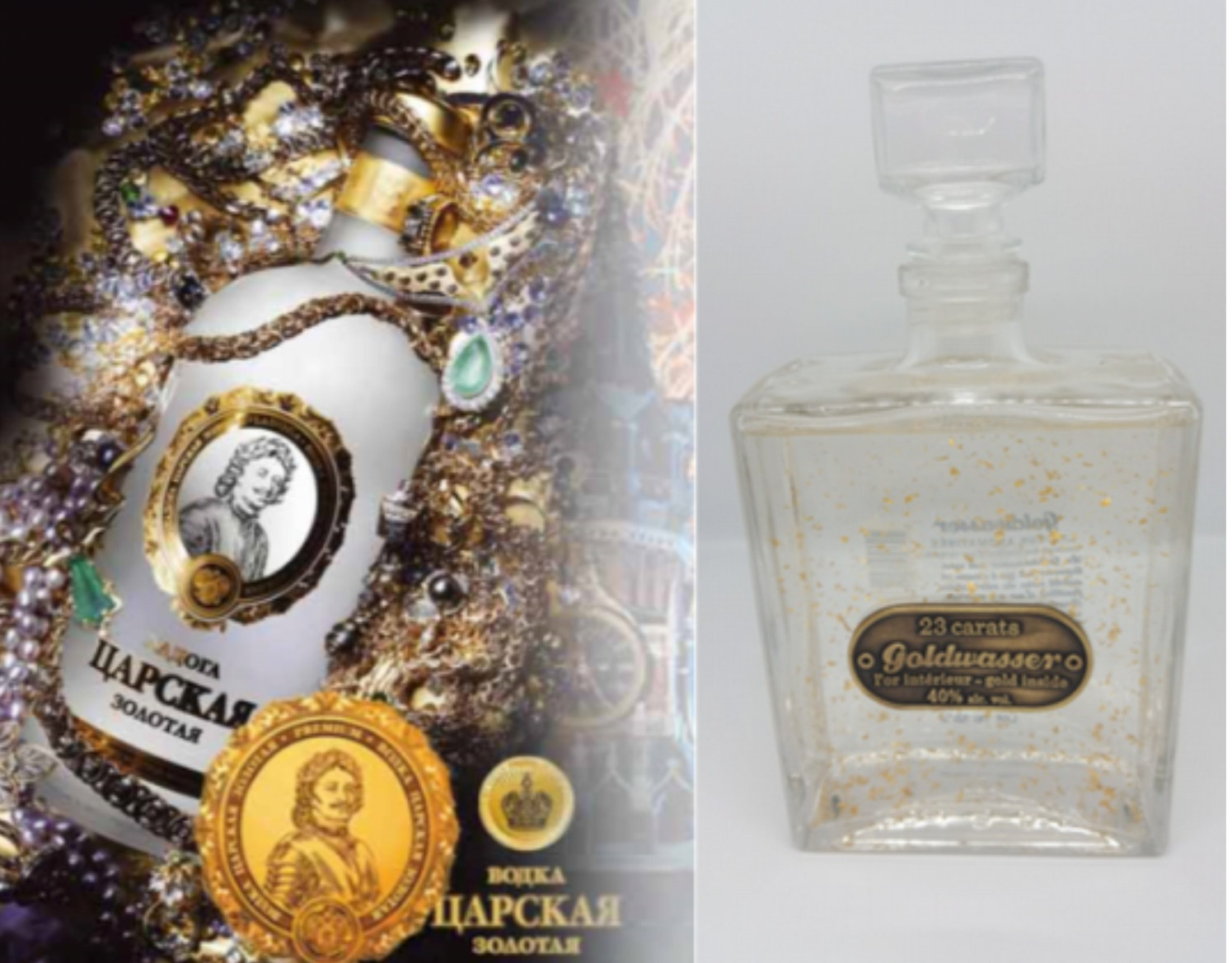 Pack Découverte Vodka Tsarskaya Gold + Goldwasser
