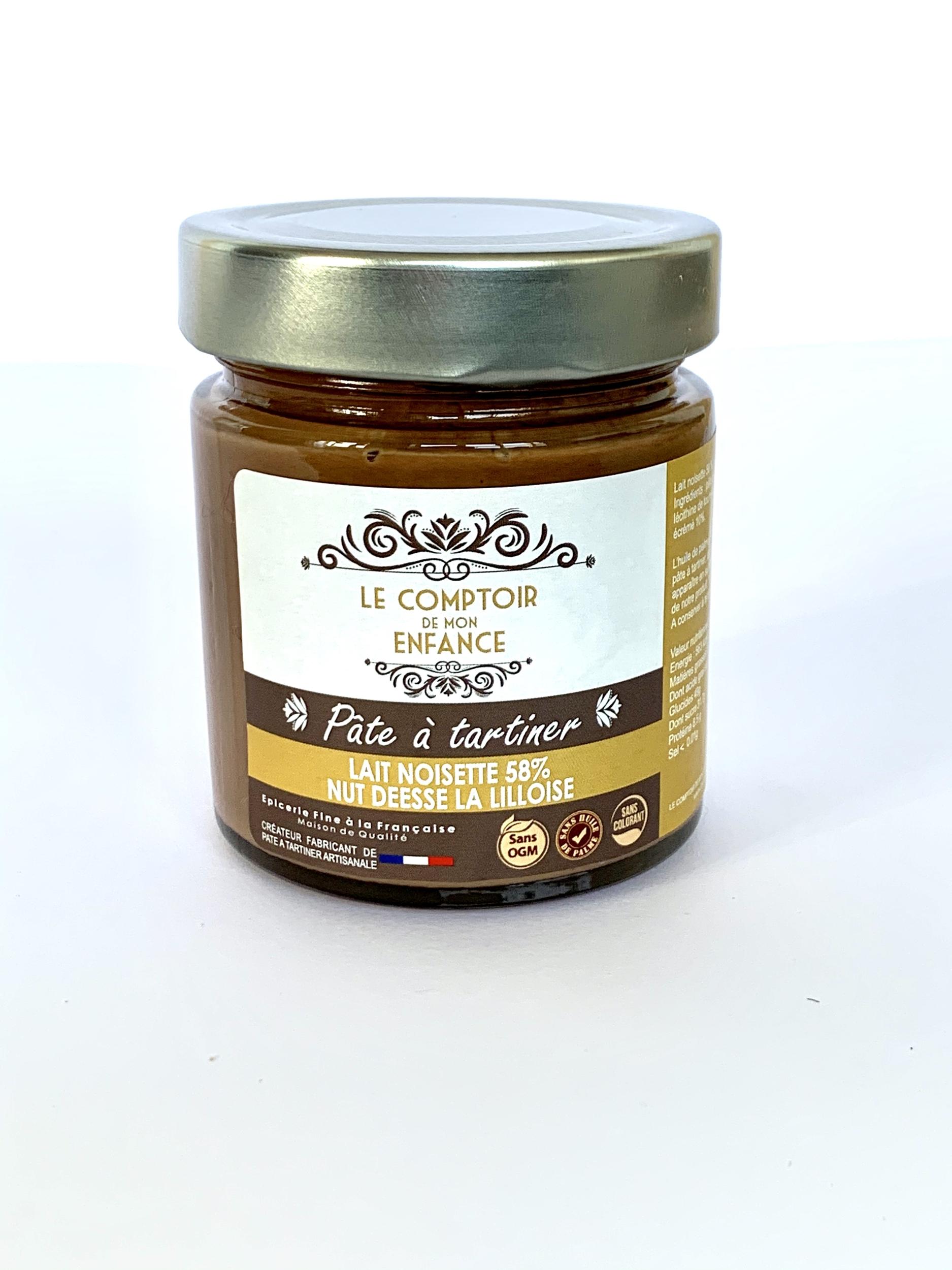 Pâte à tartiner Lait noisette 58% Nut DÉESSE La Lilloise