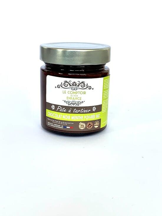 Pâte à tartiner Chocolat Noir Menthe Poivrée Bio Le Comptoir De Mon Enfance
