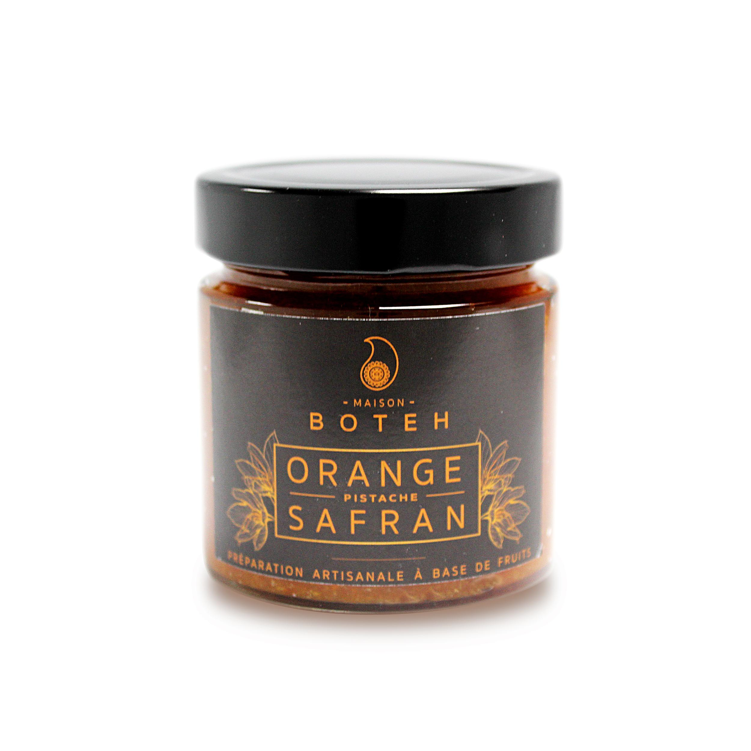 Préparation d\' Orange Pistache safran