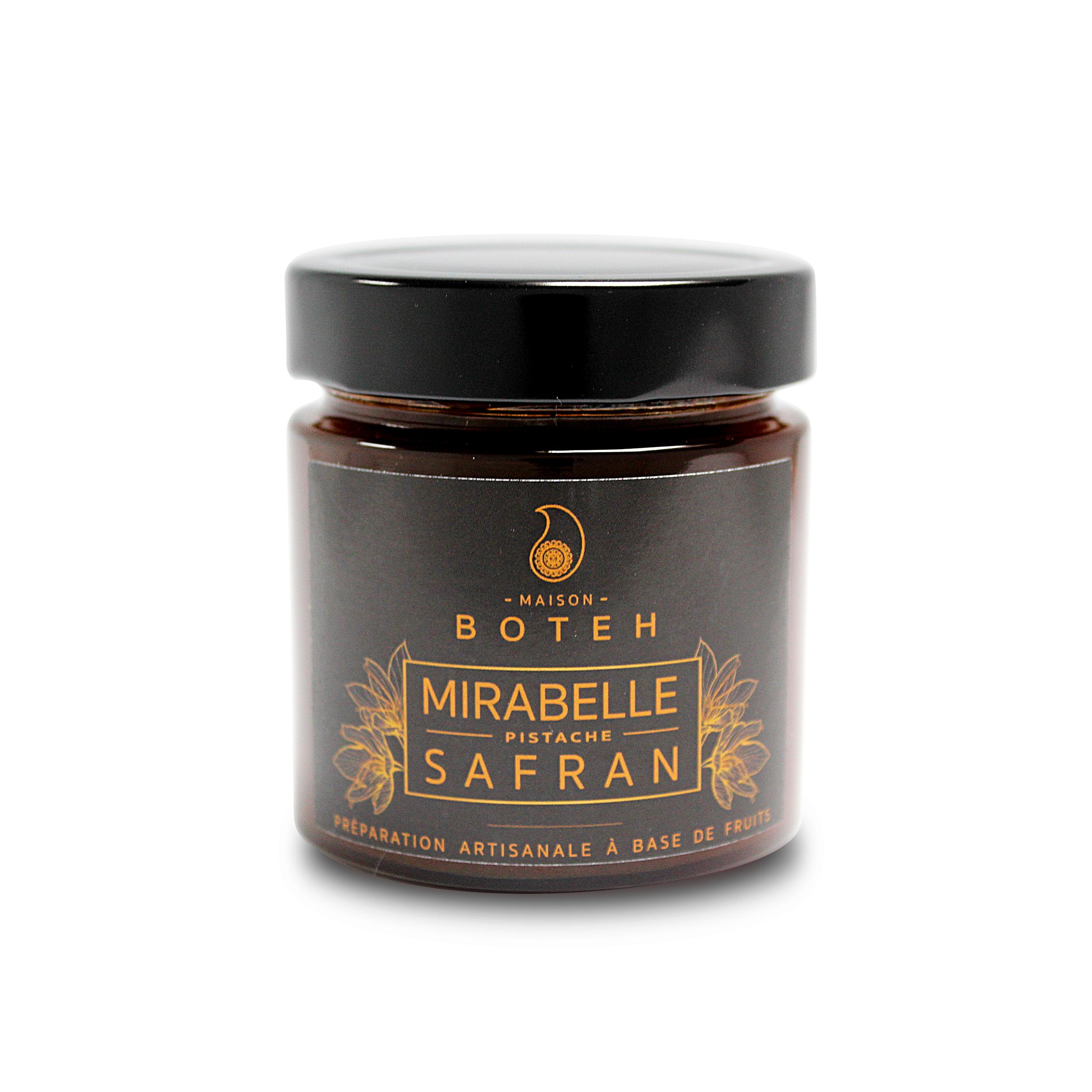 Préparation de Mirabelle Pistache Safran