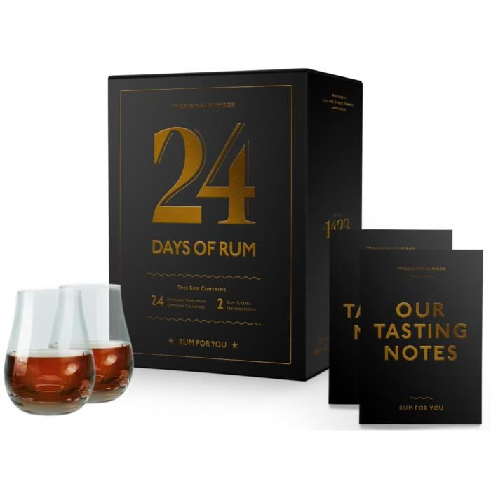 Calendrier de l\' AVENT 2020 Rhum - 24 Day of RUM - 2 verres