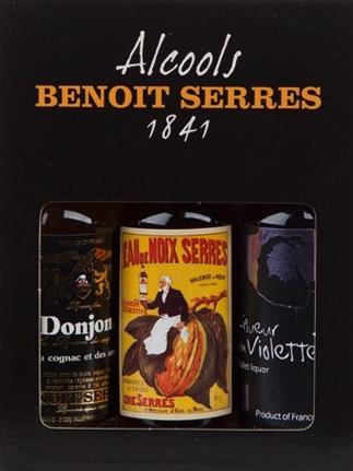 Pack de 3 mignonettes Benoit Serres (Cognac, Violette, Eau de noix)