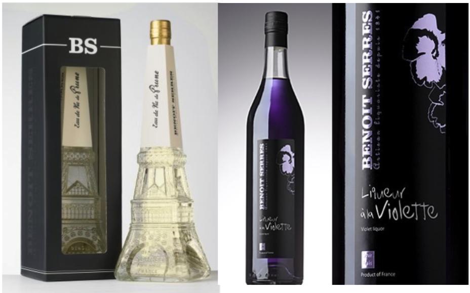 Pack découverte Benoit Serres : Eau de Vie de Prune série spéciale Tour Eiffel et Violette Toulousaine