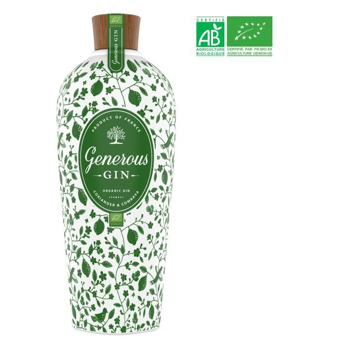 Generous Gin Organic Gin Premium Bio 70 cl