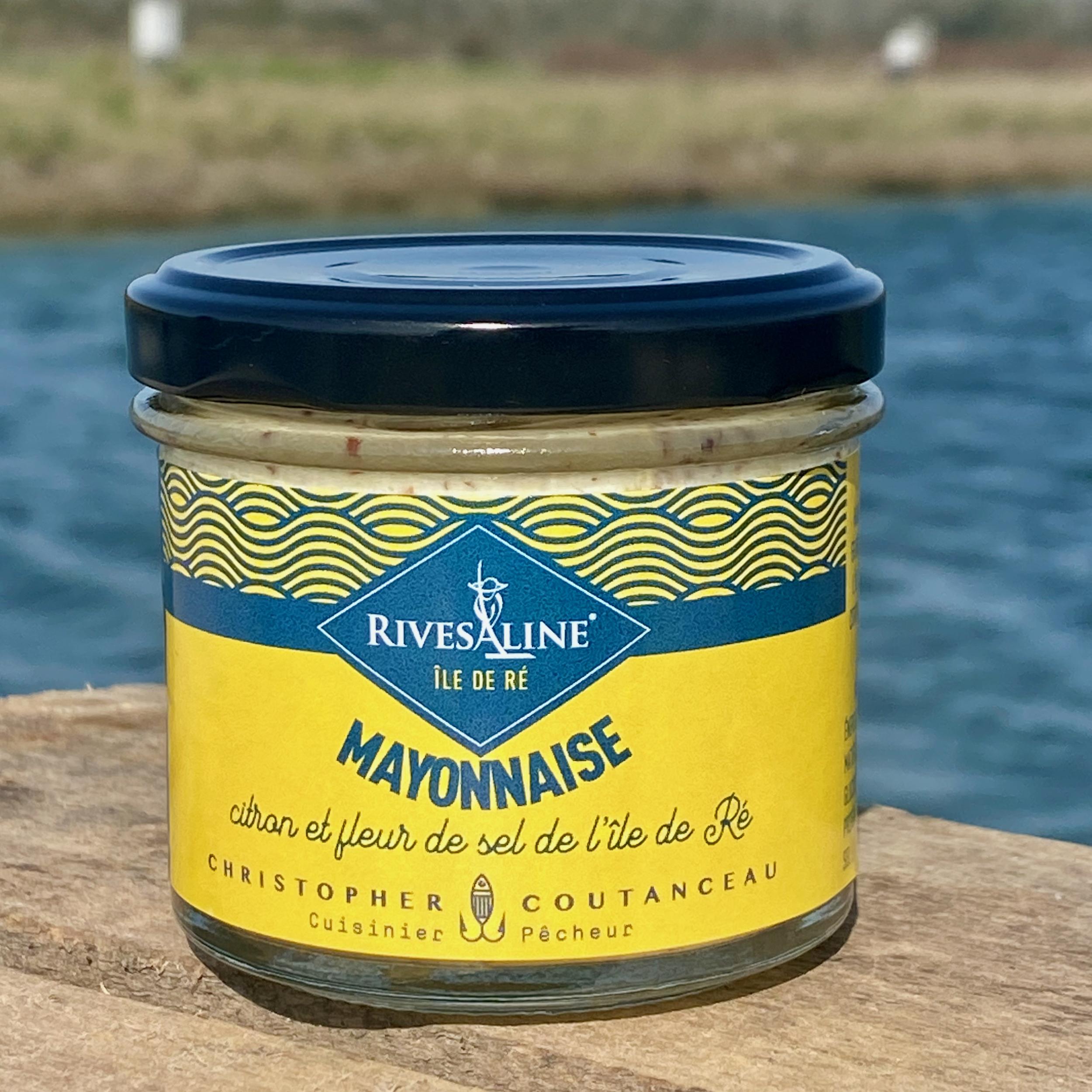 Mayonnaise citron et fleur de sel 100 g - RIVESALINE-www.luxfood-shop.fr