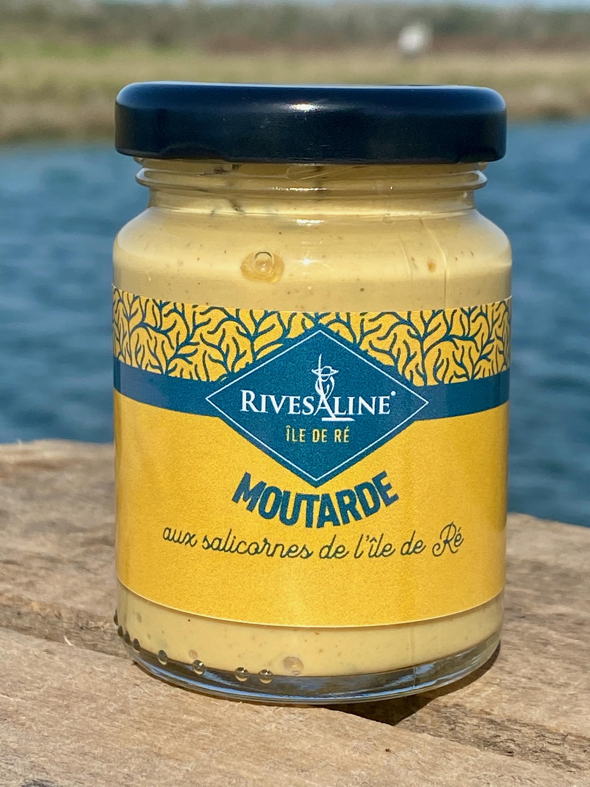 Moutarde aux salicornes 100 g - RIVESALINE-www.luxfood-shop.fr