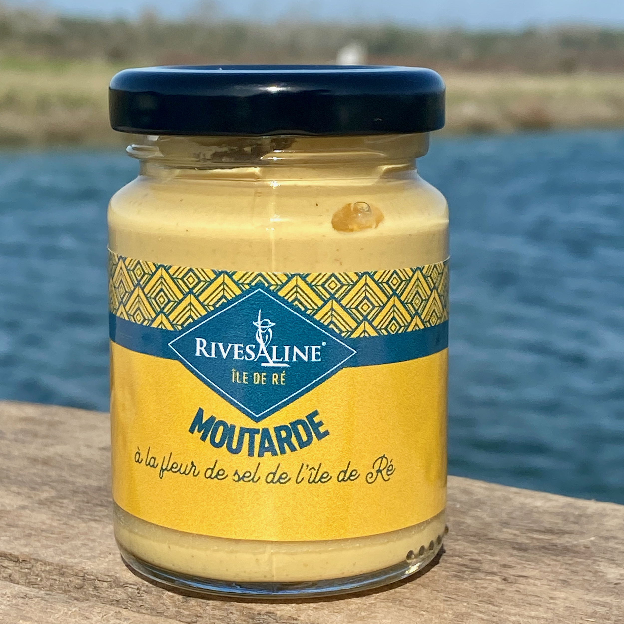Moutarde à la fleur de sel 100 g - RIVESALINE