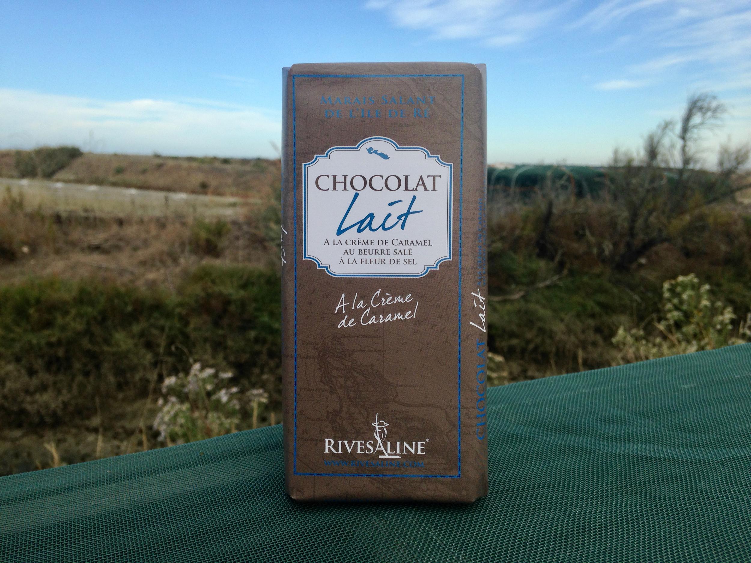Tablette de chocolat au lait crème caramel - RIVESALINE