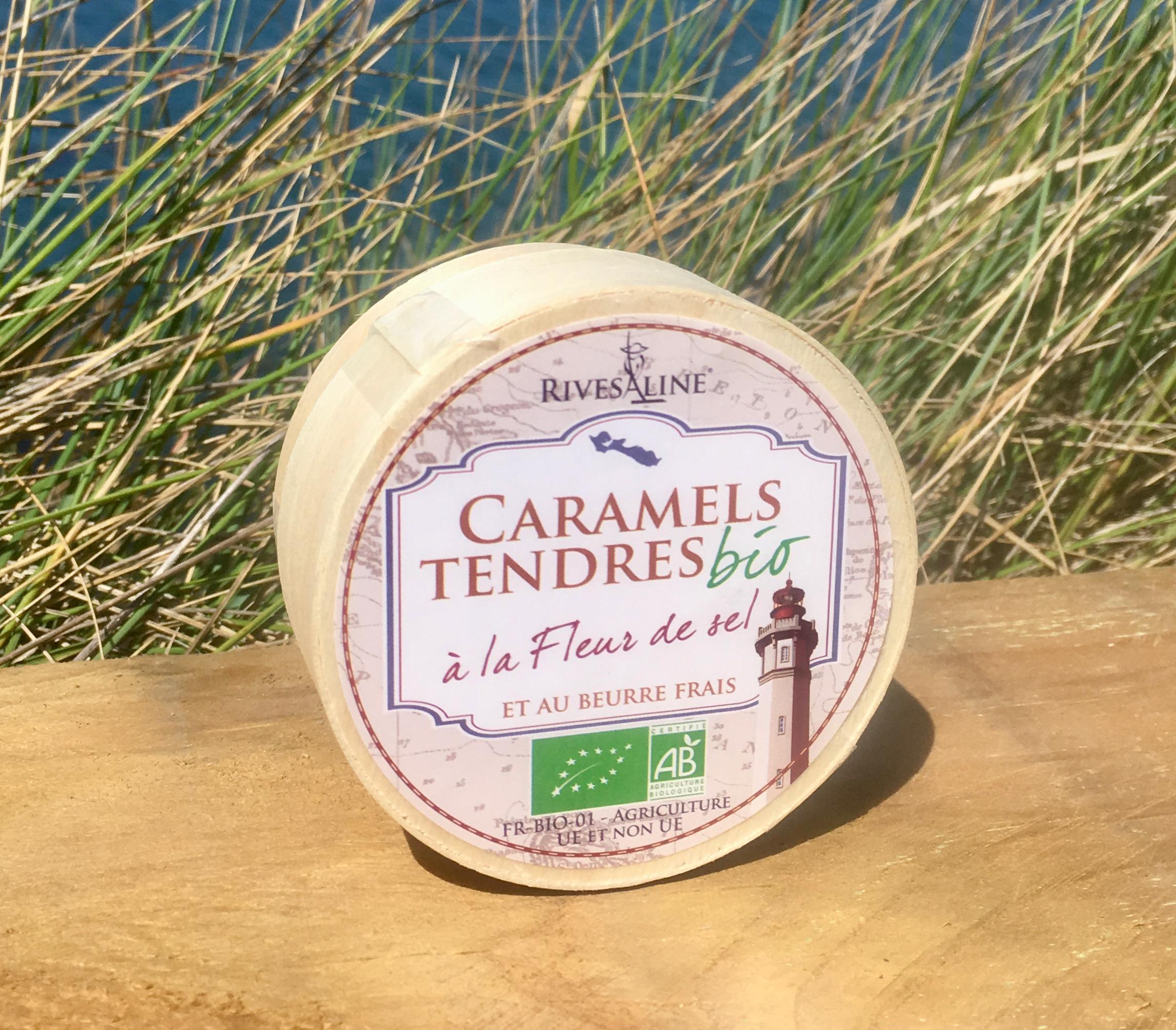 Caramels tendres mini boîte bois BIO 40 g - RIVESALINE