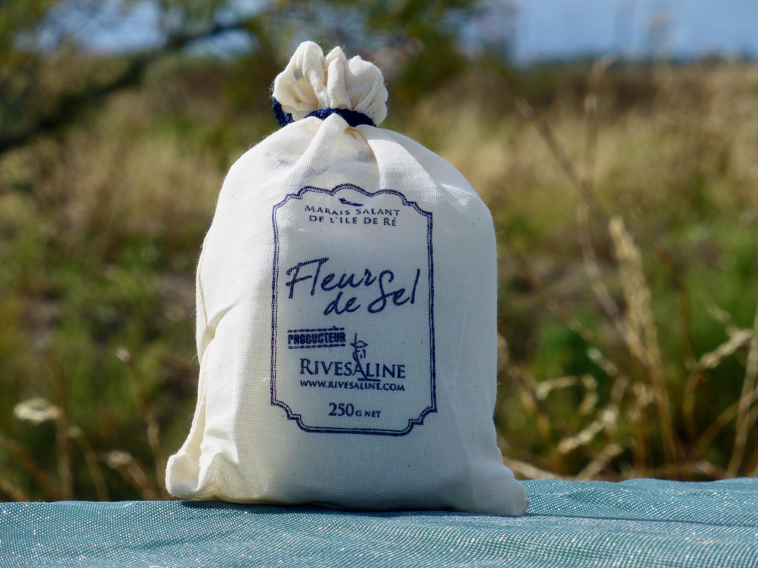 Fleur de Sel sac tissu 250 g - RIVESALINE